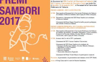 Final del Premi Sambori 2017 – 20 de maig, dissabte, al Paranimf de la Universitat Politècnica de València
