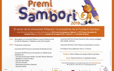Lliurament de la fase de país del XXIé Concurs de Literatura en Valencià